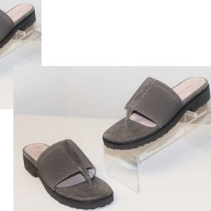 Taupe TARYN ROSE (Say 5x Fast) Slide Sandals NEW